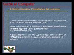 Lezione 71 (VIDEO) - IL SISTEMA OPERATIVO: L'INSTALAZIONE DEI PROGRAMMI. Ecco come si installano i programmi e come eseguire un'installazione eccellente.
