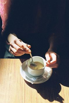 """is there something you wanted,"" she said, violently plunging the spoon into her teacup, ""or can i go now?"""