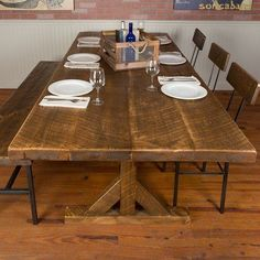 """Napa East Collection Reclaimed Wood Industrial Farm Harvest 30"""" Dining Table"""