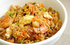 Indonesian Shrimp Fried Rice  -  When it came to making the fried rice, I made it the way I've always made it for nearly 30 years. I guess it was just my natural instinct to make fried rice the best way I know how. But the sauce... was wonderful. It was perfectly balanced with sweet and salty flavors.