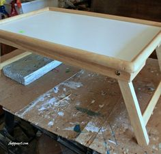 My friend, Sue bought a very plain bed tray for me.  She is great about keeping her eyes open for special items.  I saw an idea on Pinterest,  which showed how…