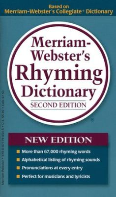 Merriam Webster's Rhyming Dictionary, 2nd Edition  - Slightly Imperfect