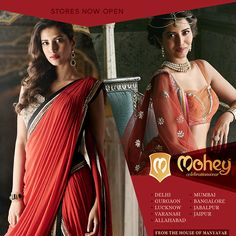Mohey - from the house of Manyavar is designed to define women's ethnic wear. Reaching out to India with 11 Mohey stores live, 30 Mohey Stores by March 2016 and 100 stores by March 2017. Whatever the occasion, culture or geography – now Mohey too, shall join the celebration.