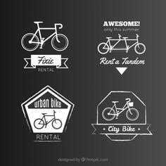 Insignias bicicleta Vector Gratis