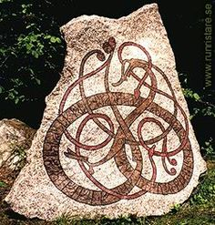 Home made Runestone. Very Impressive Urnes style