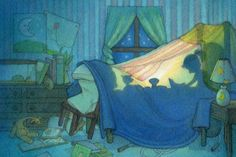 A fort which doubles as a bed!  (by Ashley Mims)