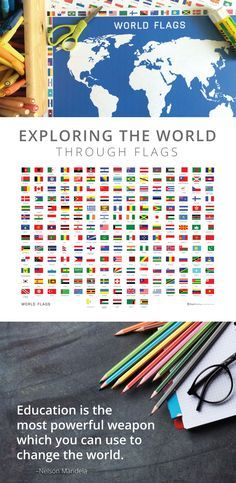 Celebrate the Olympics by learning about the flags of the world!