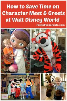 Seeing Disney World Characters is a must do for most visitors, but it can take up a lot of your vacation time. Here are 7 tips that will help save you time on meet and greets at Walt Disney World.