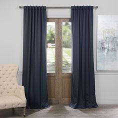 Nocturne Blue 50 x 120-Inch Blackout Curtain