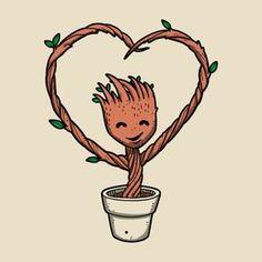 Potted Valentine Groot Marvel Art, Marvel Avengers, Marvel Comics, Marvel Wallpaper, Disney Wallpaper, Mundo Marvel, I Am Groot, Marvel Memes, Cute Disney