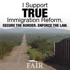 Let your Congressmen and Women know you want border control. Every other country…