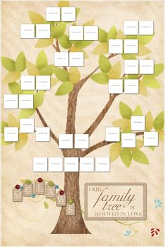 Cute Printable Family Tree | Printable family tree, Family trees ...