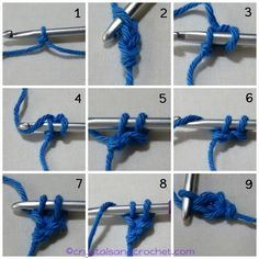 Foundation stitches can be used instead of making a number of chains and then working stitches into the chains. This will be when you are working in rows. Crochet Chain Stitch, Single Crochet Stitch, Crochet Stitches, Crochet Patterns, Crochet Tutorials, Crochet Ideas, Foundation Half Double Crochet, Irish Lace, Yarn Over