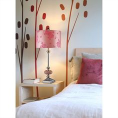 Lauren 1 Light Table Lamp In Chrome And Pink Mosaic