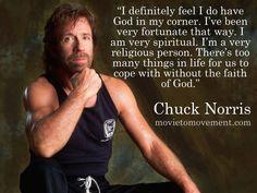 Chuck Norris and his faith.