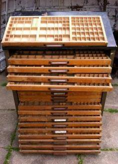 Vintage Letterpress Cabinet (for Newsstand)