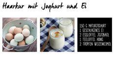 Haarkur selber machen mit Joghurt und Ei