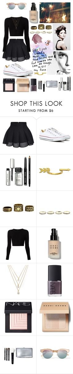 """""""Kiss my face!#113"""" by worldofflowers ❤ liked on Polyvore featuring Converse, ...Lost, NARS Cosmetics, Angelo, Bobbi Brown Cosmetics, Gorjana, Charlotte Russe, Cushnie Et Ochs, Forever 21 and Le Specs"""