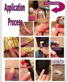 Applying your nail wraps http://www.tstahl.jamberrynails.net
