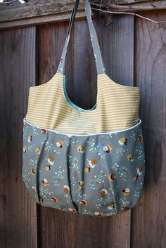 Sewing a tote - tutorIal. Cute casual bag for farmer's market