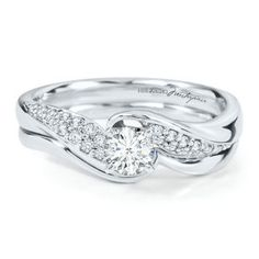18kt White Gold 1/2ct TW Round Diamond Bridal Set, AGS Graded  Helzberg Diamond Masterpiece®, Degas Diamond™