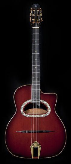 Prochazka D hole internal resonator Gypsy Jazz Guitar, Guitar Art, Cool Guitar, Acoustic Guitars, Bass Guitars, Django Reinhardt, Resonator Guitar, Smooth Jazz, Vintage Guitars