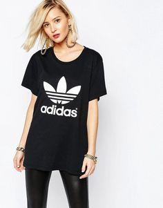 14eff761a77e6 Adidas   adidas Originals Adicolour Oversized T-Shirt With Trefoil Logo at  ASOS Mode,