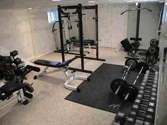 this is my dream home gym. We  are staring it and hopefully it will look something like this