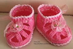 Crochet and knitting from Irina Lilac: Crochet and knit baby booties