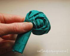 DIY fabric rosettes