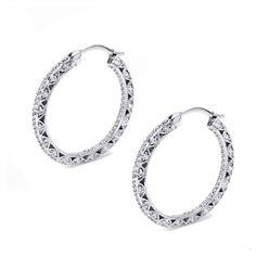 Diamond hoops by #Tacori