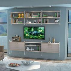 Link Bookcase - white elm