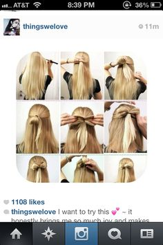 How to easily  make a bow made out of hair super cute for just your lazy days or if your going out with friends