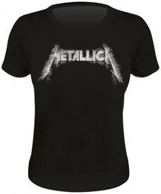 Skinny Nana METALLICA - Sliced Logo #tshirt #femme #metallica www.rockagogo.com