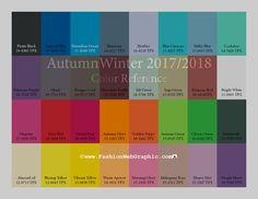 Autumn Winter 2017/2018 trend forecasting is a TREND/COLOR Guide that offer seasonal inspiration & key color direction for Women/Men's Fashion, Sport & Intimate Apparel