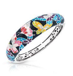 Capri Jewelers Arizona ~ www.caprijewelersaz.com Butterfly Kisses Black Bangle by Belle Étoile.  Styling with Black.  Fashion Jewelry