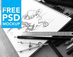 Free PSD Art Sketch Book Mock-UpThese photo based mock-ups was created to help you display your artworks in a natural, but professional setting. Each mock-up will showcase your artworks at a different angle and situation. Working On Myself, New Work, Art Sketches, Mockup, My Design, Behance, Gallery, Check, Artwork