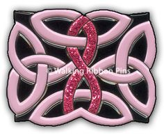 Celtic Knot Breast Cancer Awareness Pin <3