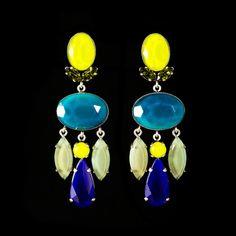 Philippe Ferrandis 'Danieli' Spectacular Super Long Clip-on Earrings | Alexandra May Jewellery