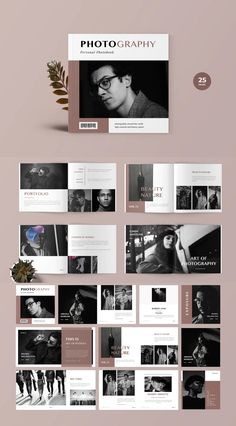 Square Photobook Magazine Template InDesign INDD - 25 print page Portfolio Design Layouts, Book Design Layout, Album Design, Magazine Page Design, Magazine Layouts, Brochure Layout, Corporate Brochure, Corporate Identity, Identity Design