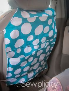 Tired of your kids ruining the back of your car seats?  Make a seat protector that actually fits and stays in place!  Oh...and organizes your kids' stuff too!    http://sewplicity.blogspot.com/2013/10/tutorial-auto-seat-back-protector.html