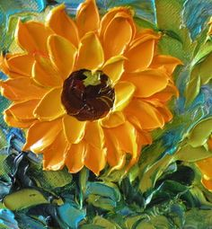 Original Oil Painting Small Sunny Original by IronsideImpastos, $40.00