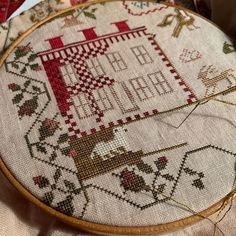 "BrendaS on Instagram: ""Slow and steady for Sarah Stewart Hardmann by @needleworkpress  I'm going to try and do the grass and over one sheep in sections so that I…"" Cross Stitch Samplers, Cross Stitching, Cross Stitch Patterns, Stitch Magazine, Sheep, Grass, Dolls, Sewing, Addiction"