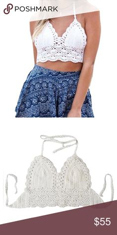 ‼️OPEN TO OFFERS‼️ Women's Summer Crochet Crop Bikini Top                            Description * Packing include 1pcs crop top  *Material: Crochet  *An intricate and pretty finish.  *Detailed strapes and pretty hemline make this simple piece stand out!  *Spring Summer essential with a flirty appeal.  *Classic and iconic style that will never be out of fashion. Swim
