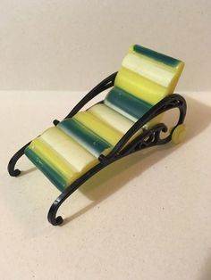 Plasco Chaise Lounge Chair Vintage Dollhouse Furniture 1:16 Renwal Marx | eBay