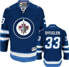 Winnipeg Jets Dustin Byfuglien 33 Blue Authentic NHL Jersey Sale