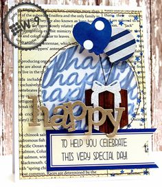 Jinny Newlin for Wplus9 featuring Whole Lotta' Happy stamps and dies, Happy Trio die and Borders & Backgrounds 3 stamp set.