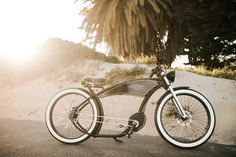 ruff cycles' ruffian electric bike echoes motorcycle style from 1900s