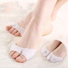 Professional Soft Ballet Pointe Silicone Gel Toe Dance Breathable Shoe Pads