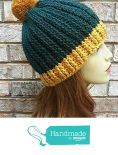 Game Day Hat Womens Green and Gold Made in USA from Darlene's Gift Shop https://www.amazon.com/dp/B01N045Y85/ref=hnd_sw_r_pi_dp_T0oJyb6BRJ6WT #handmadeatamazon